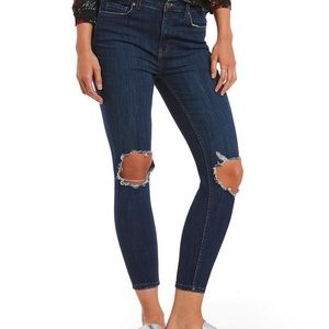 Free people distressed knee jeans